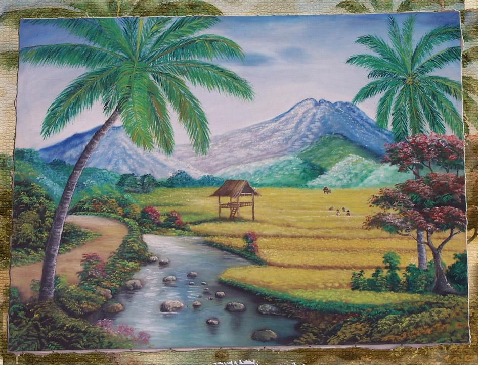 Sebuah karya lukisan c...