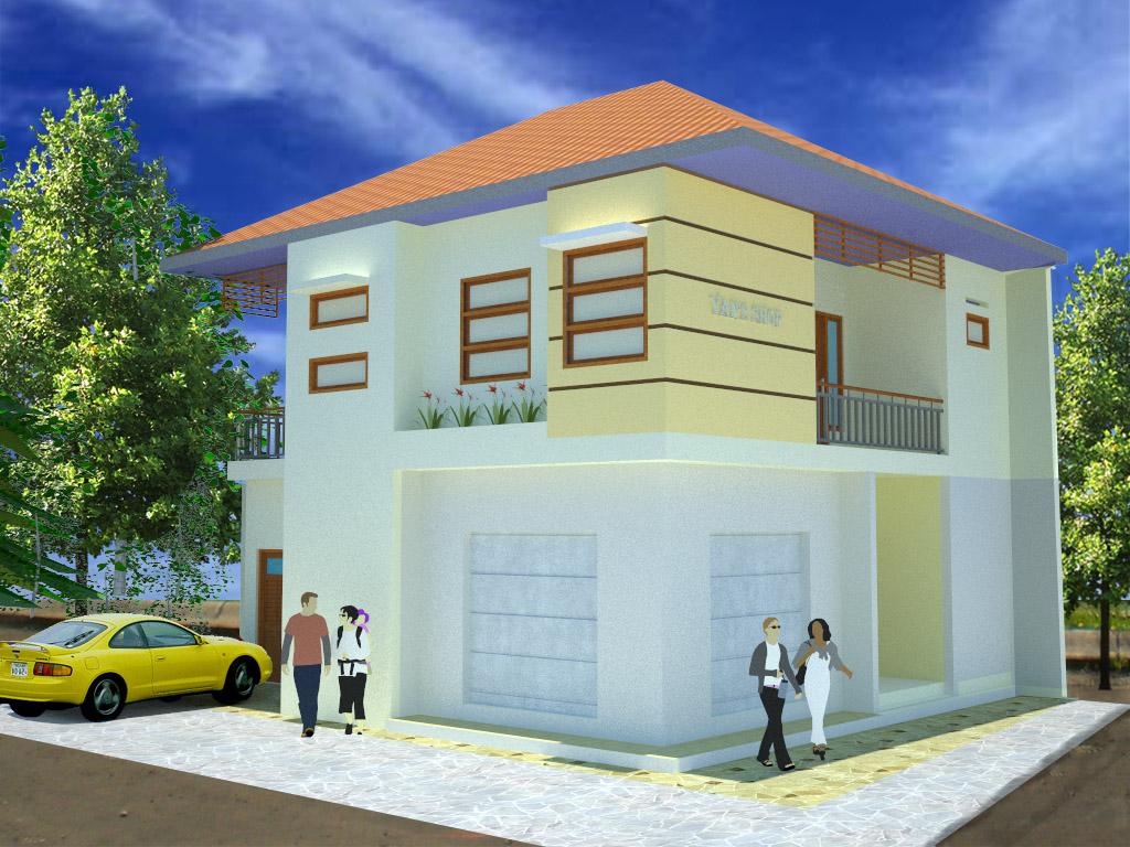 lukisan rumah sederhana