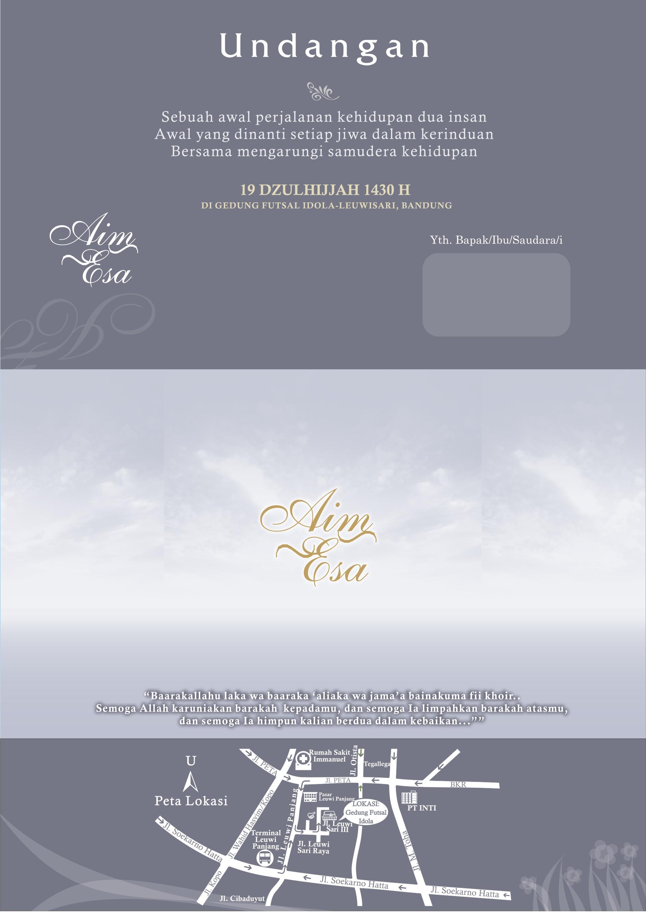 model kartu undangan pernikahan
