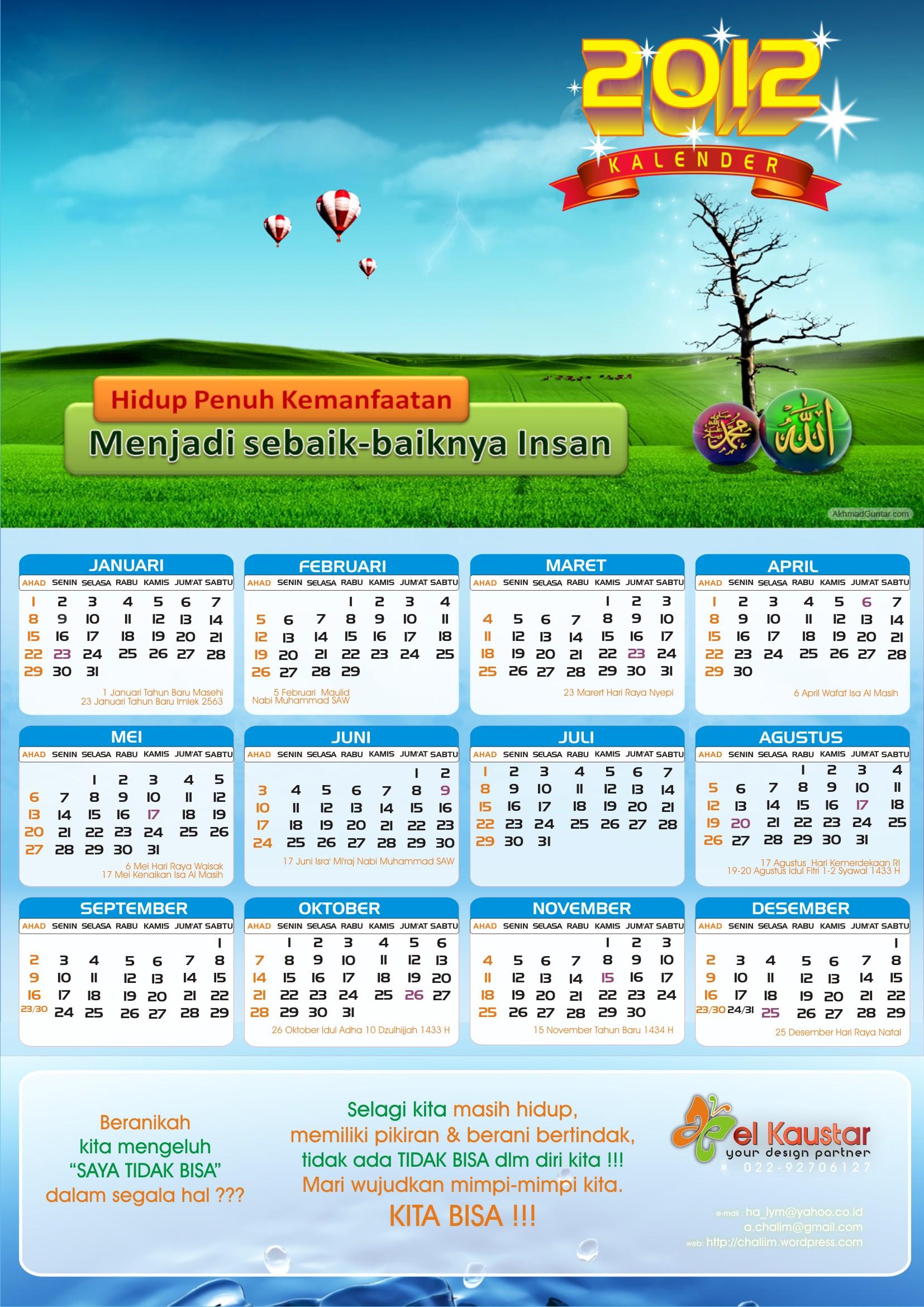... dg hari libur SKB 3 Menteri – kalender kata-kata motivasi_biru hijau