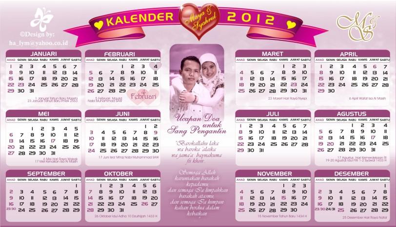 Kalender 2012 lengkap dengan hari libur nasional
