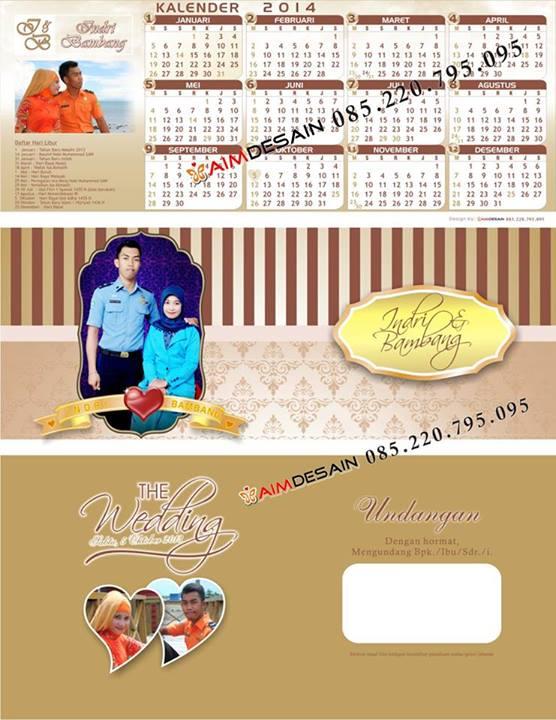 Contoh Undangan Unik Kalender