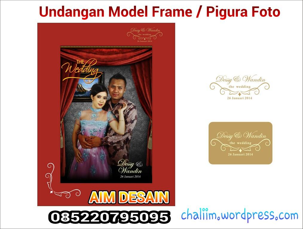 Undangan Unik Model Pigura Foto Contoh Undangan Pernikahan Unik