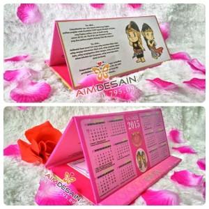 Undangan Kalender Hardcover Pink