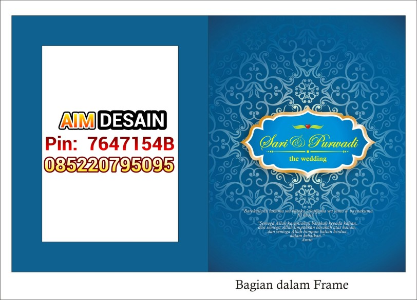 Undangan Frame softcover