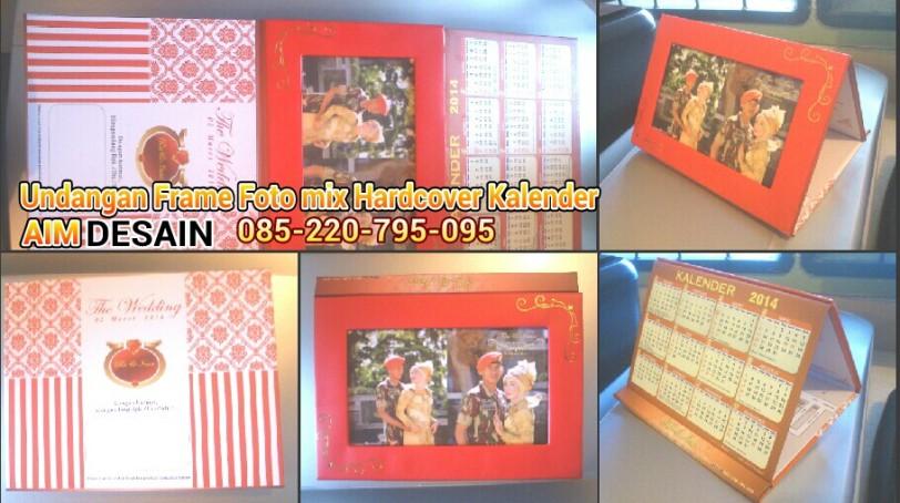 Undangan Frame Foto dikawinkan dengan Hardcover Kalender