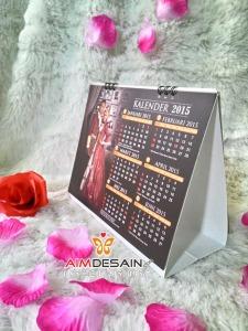 Contoh Undangan Pernikahan Kalender Meja Ring Spiral